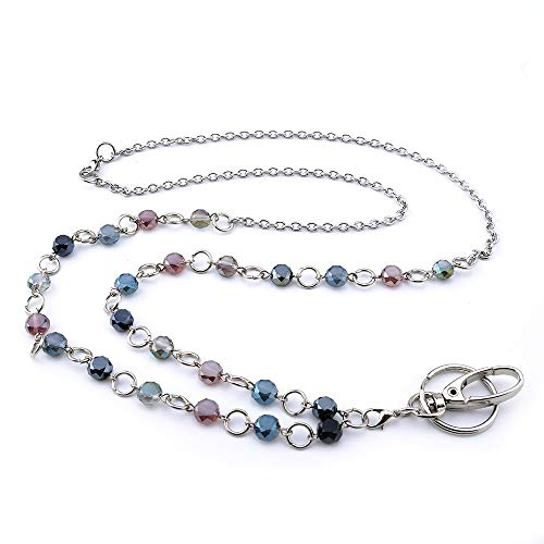 LUXIANDA Fashion Keys Lanyards Necklaces ID Lanyard Badge Stainless Steel Chain