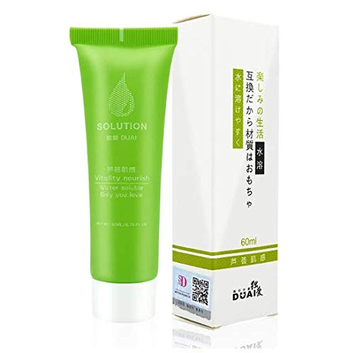 Combo Set 2 Tubes - Aloe Lubrication Aphrodisiac Vagina Anal Pain Relief Moisturizing Lubricant for Sex Water-Soluble Exciter Gel 60g