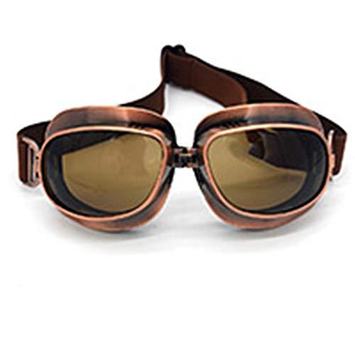 evomosa Gafas de moto Vintage, Gafas de Sol Deportivas para Motocicletas