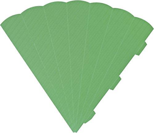 Heyda 204870084 Schultüten-Zuschnitt 3D (Höhe 69 cm, Wellkarton 3D, 300 g/m²) grün