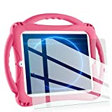 iPad 2 Case for Kids,TopEsct Shockproof Silicone Handle Stand Case Cover&(Tempered Glass Screen Protector) for Apple iPad 2nd Generation,iPad 3rd Generation,iPad 4nd Generation (Pink)