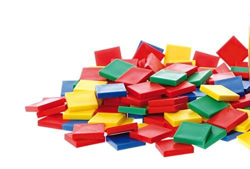 LEARNING ADVANTAGE Edx Education - Juego de 400 azulejos de color para enseñar fracciones, distancia y área