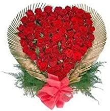 SameDayDelivery Flowers Bouquet Fresh Roses I Valentine Gift for Girlfriend I Valentine Gift for Boyfriend I Gift for Girls I Wedding Gift for Couples (70 Fresh and Real Red Roses)