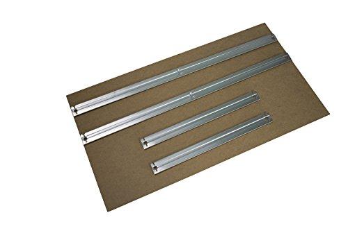 HDF Boden 75 x 40 cm mit Traversen als Zusatzboden oder Ersatzboden für Schwerlastregal Stecksystem: Metallregal geeignet als Kellerregal, Lagerregal, Archivregal, Ordnerregal, Werkstattregal
