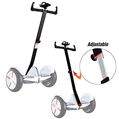 ToLanbbt Scooter Handle Adjustable Handlebar for Segway Ninebot Mini PRO with Phone Mount, Release Knee Pressure Hand Lever Control (Black)
