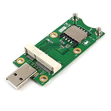 LeHang Mini PCI-E a USB2.0 Adapter Test 3G / 4G WWAN Módulo...