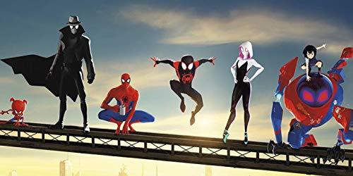 PARTYLANDIA Cialda in Ostia del Cartone Animato Spider-Man Un Nuovo Universo per Decorazione di Torte per Compleanni e per Feste a Tema