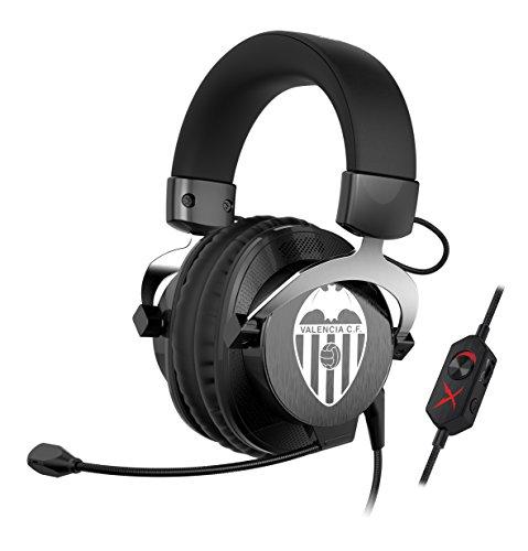 CREATIVE Labs Sound blasterx H5Valencia CF Edition–Kopfhörer (mit Mikrofon, für Spiele analogen Professionelle), Schwarz und Weiß