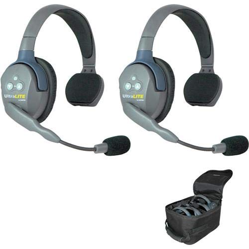 EARTEC UL2S Ultralite 2-Person System, Includes Single-Ear Master Headset and Single-Ear Remote Headset