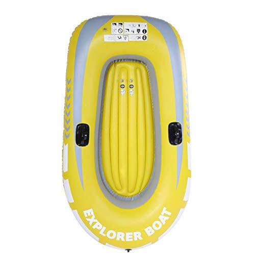 KUIDAMOS Kayak Inflable de Alta Resistencia, Bote de Aire para Pesca, PVC, 90 kg, Soporte de Carga, para Piscina, Pesca, con Dos Soportes de Paleta