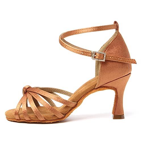 scarpe donna decolte tacco medio primavera TINRYMX Donna & Bambine Scarpe da Ballo Latino Raso Professionali Pratica Scarpe da Ballo