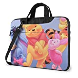 Winnie The Pooh Laptop Tote Bag Tablet Briefcase Ultra Portable Computer One Shoulder Shockproof Laptop Bag14 Inch
