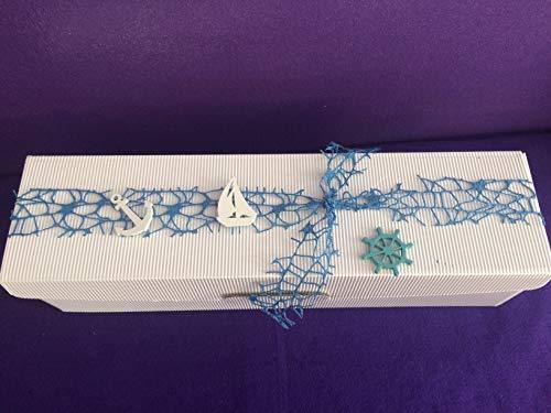 Aufbewahrung für Kerzen-Geschenkverpackung-Geschenkverpackung für Kerzen-Aufbewahrungsbox-Box-Kerzenkarton-Karton mit Schaumstoff für die Größen 30 x 8 cm-30 x 7 cm-25 x 7 cm