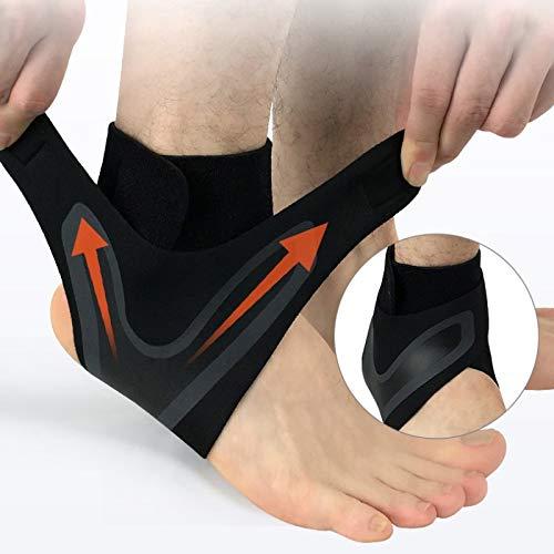 WANGZHEXIA Fitness EQUIPMENT YDYDMTM - Tobillera deportiva elástica de alta protección para el tobillo, equipo de seguridad para correr, baloncesto, tobillera, talla L (izquierda)