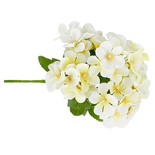 5-Zweig künstlicher Blumen-Bouquet Simulation Blumendekor künstliche Blumen künstliches Tuch Hochzeit Tuch Gefälschte Blume Wohnkultur, Weiss