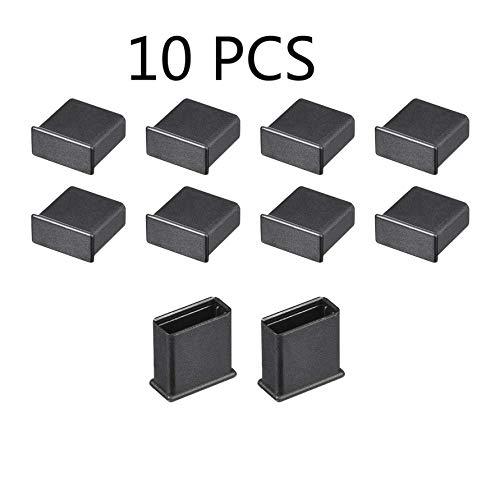 iMiMi Anti-dust Stopper 10 PCS Plastic MALE USB 2.0 Anti-Dust Stopper Cap Cover voor USB 2.0 Mannelijke Poort Zwart