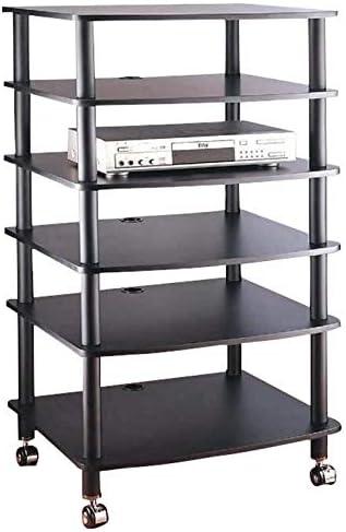 Dedication VTI AR406 6 Shelf Very popular Black Audio Rack-Black