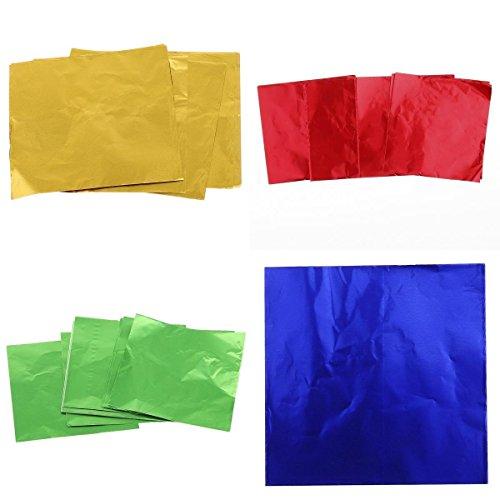400 Piezas de Paquete de Envoltorios de Colores de Papel de Aluminio