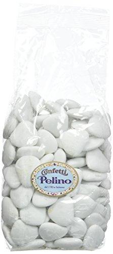 Confetti Pelino Sulmona dal 1783 Confetti Bianchi al Cioccolato a forma di Cuore - 500 gr