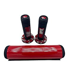 """A high density extremely lightweight foam handlebar pad with coating protector The Handlebar Pad Fit: 50cc-150cc dirt bikes, pit bikes, motocross. And any handle bar with 1/2"""" crossbar. Power wash proof permanent graphics Designed to allow ease of re..."""