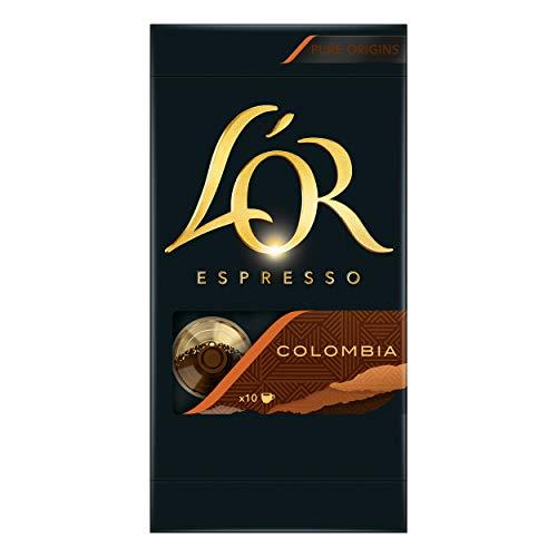 Douwe Egberts LOR Espresso Colombia, Kaffeekapseln, Nespresso Kompatibel, gemahlener Röstkaffee, 50 Kaffee Kapseln