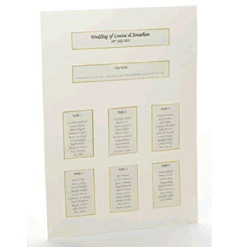 CSC Imports - Tableau matrimonio effetto stampato a casa, colore: oro