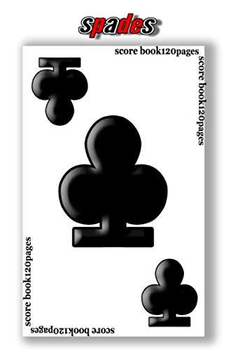 spades score book 120 score sheets:   6 x 9 inches score sheet dimension   120 score sheets   