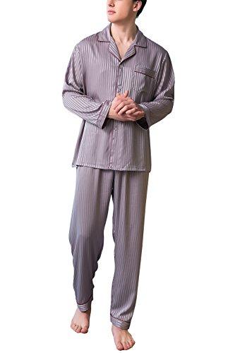 Dolamen Pijamas para Hombre Satén Largo, 2018 Hombre