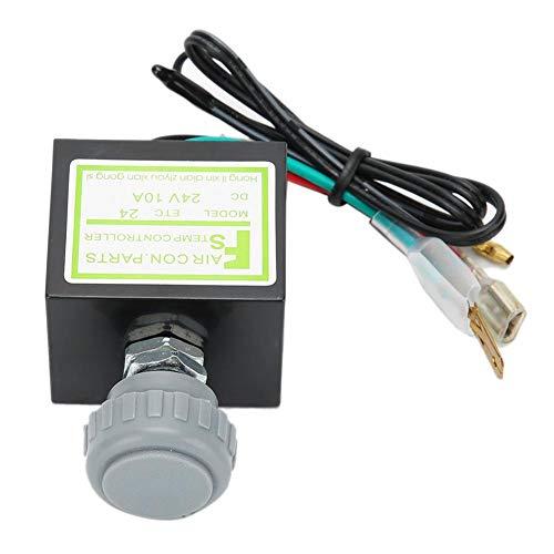 Termostato electrónico para aire acondicionado, termostato electrónico universal de 10 A 12-24 V, termostato electrónico A/C(24V)