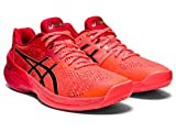 ASICS Women's Sky Elite FF Tokyo Volleyball Shoes, 12M, Sunrise RED/Eclipse Black