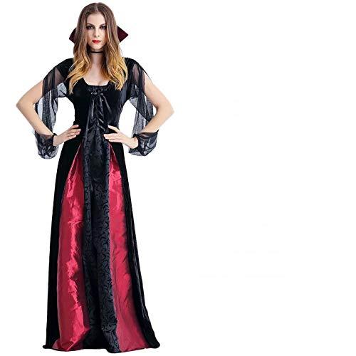 thematys® Disfraz de Vestido de Bruja para Mujer Cosplay, Carnaval y Halloween - Talla única 160-180cm