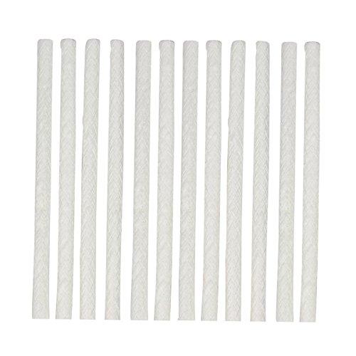 Ersatzdocht aus Glasfaser, für Fackeln, Weinflaschenlichter, Laternen und Gartenlichter, 25 cm x 1,3 cm, 12 Stück