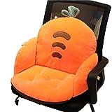 Cojín de respaldo de felpa suave para silla de oficina