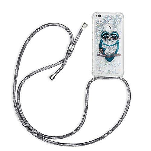Funda Bling Glitter Liquida con Cuerda para Huawei P8 Lite 2017/Honor 8...