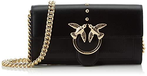 Pinko Love Wallet Simply C Vitello, Portafoglio Donna, Nero (Nero Limousine), 2.5x10.8x19.2 cm (W x H x L)