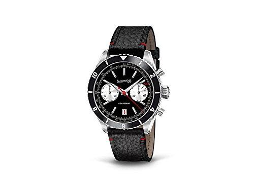 Eberhard Contograf Automatik Uhr, ETA 7750, 42mm, 5atm, Chrono, Schwarz, 31069.3