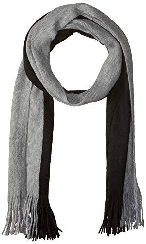 Steve Madden Men's Colorblock Scarf, black/Grey, One Size