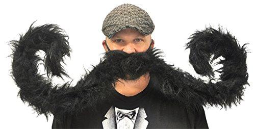 Rasta Imposta 5470-BK Postiche Grande Moustache Noire Homme 152,4 cm (Taille Unique)