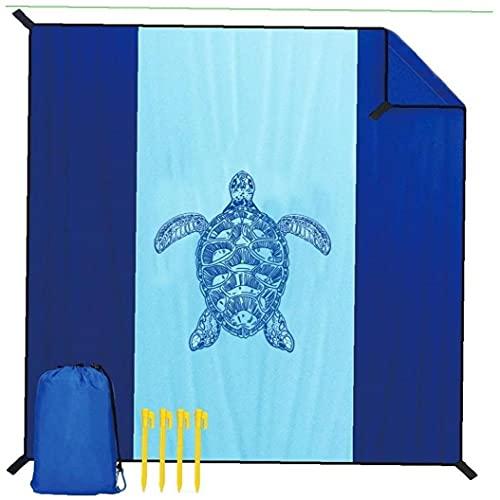 Onsinic Beach Blanket Impermeable Sandproof Esterilla para Playa con 4 Estacas De Metal Extra Grande Alfombra De Picnic para Parque, Playa, Viajes, Camping, Excursiones 83''x79 ''