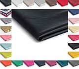 Eco-cuero imitación de cuero natural - 50x140cm - Disponible en una variedad de colores (Negro semi mate)