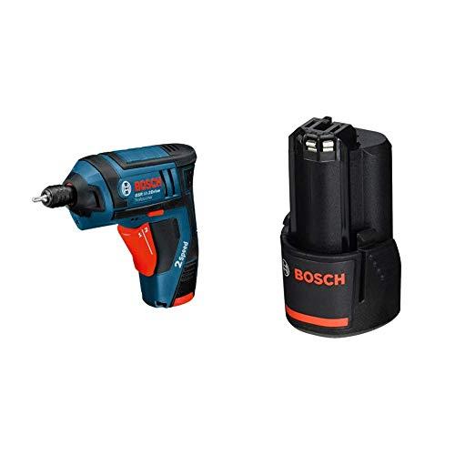 Bosch Professional - Atornillador a batería (2 baterías, cargador, maletín de...