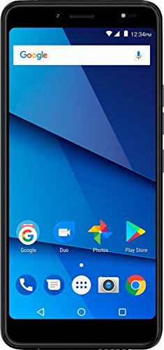"""BLU - Vivo One Plus with 16GB Memory Cell Phone (Unlocked) - Black 6"""" touch screen Android 7.1 Nougat Nougat OS"""