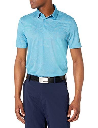 adidas Golf Men's Camo Primegreen Aero.rdy Polo Shirt, Blue/White, Small