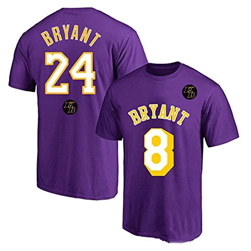 TINKOU Camiseta clásica de la NBA, Lakers 8# 24# Camiseta de Baloncesto para Hombre fanáticos de la Camiseta cómoda de Manga Corta