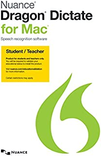 Dragon Dictate for Mac 4.0, Student/Teacher Edition [Mac Download]