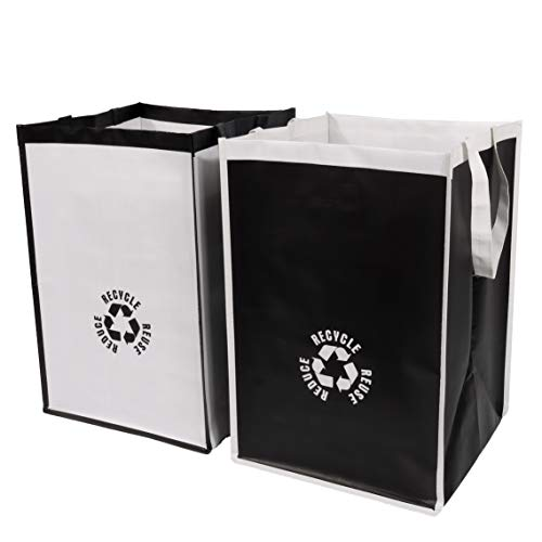 Lily Queen Recycle Waste Bin Bags for Kitchen Home Trash Sorting Bins Organizer Waterproof Baskets Compartment Container 2pcs