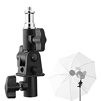Selens Flash Umbrella Bracket U-Shape Swivel Holder Adapter 180° Adjustable 1/4  3/8  for Flash Light Stand Mount Photography Umbrella Tripod Softbox Speedlite Photo Studio