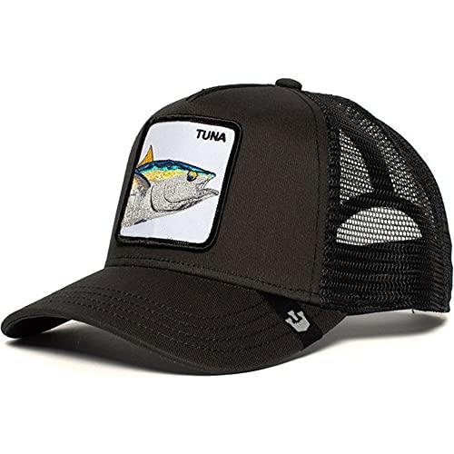 Gorra de béisbol de algodón Snapback deModa Hombres y Mujeres, Gorra de Camionero de Malla de papá Hip Hop-Tuna