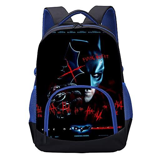 KKASD Affiche Batman Sac à dos imprimé en 3D Sacs à dos de mode pour adolescents, adultes, cartables pour enfants 45x30x15cm Sac à dos pour hommes