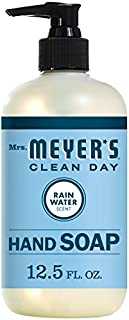 Mrs. Meyer's Clean Day Liquid Hand Soap, Cruelty Free and Biodegradable Formula, Rain Water Scent, 12.5 oz